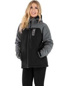 FXR Vertical Pro Insulated Softshell Womens Jacket Heather Grey/Black