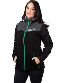 FXR Pulse Softshell Womens Jacket Black/Mint