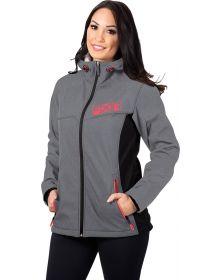 FXR Pulse Softshell Womens Jacket Heather Grey/Coral