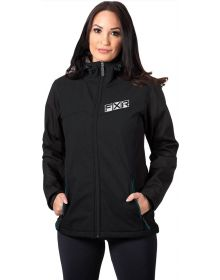FXR Pulse Softshell Womens Jacket Black/Ocean