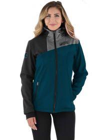 FXR Maverick Softshell Womens Jacket Ocean/Heather Grey