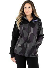 FXR Maverick Softshell Womens Jacket Charcoal Camo/Lilac