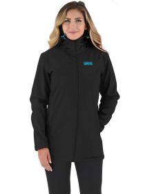FXR Sierra Long Softshell Womens Jacket Black/Sky Blue