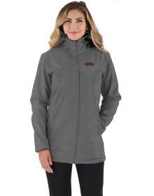 FXR Sierra Long Softshell Womens Jacket Heather Grey/Plum