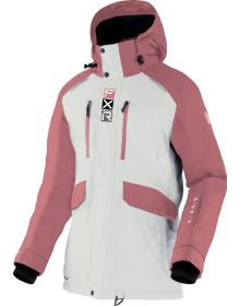FXR 2022 Aerial Womens Snowmobile Jacket Bone/Dusty Rose