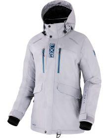 FXR 2022 Aerial Womens Snowmobile Jacket Grey/Ocean