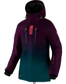 FXR 2022 Aerial Womens Snowmobile Jacket Plum/Ocean/Coral