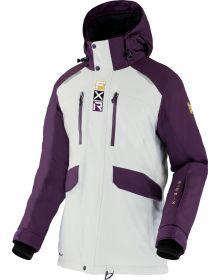 FXR 2022 Aerial Womens Snowmobile Jacket Bone/Plum