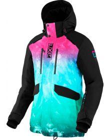 FXR 2022 Aerial Womens Snowmobile Jacket Minty Fresh Ink/Black