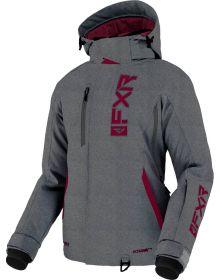 FXR 2022 Evo FX Womens Snowmobile Jacket Mid Grey Linen/Wine