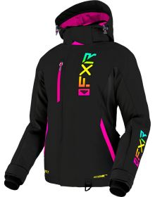 FXR 2022 Evo FX Womens Snowmobile Jacket Black/Sherbert