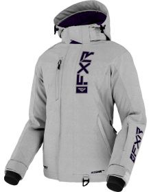 FXR 2022 Evo FX Womens Snowmobile Jacket Lt Grey Heather/Eggplant