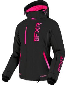 FXR 2022 Evo FX Womens Snowmobile Jacket Black/Raspberry Fade