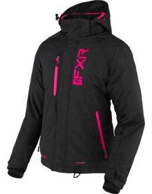 FXR 2022 Fresh Womens Snowmobile Jacket Black Linen/Fuchsia