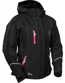 Castle X Bliss Womens Snowmobile Jacket White/Magenta - Plus Sizes