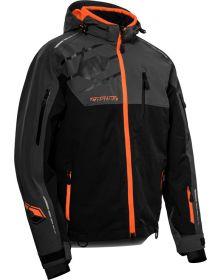 Castle X Flex Snowmobile Jacket Charcoal/Black/Orange