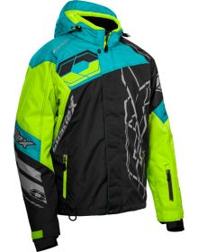Castle X Code Snowmobile Jacket Charcoal/Turquoise/Hi-Vis