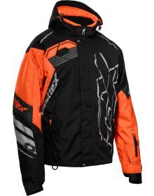 Castle X Code Snowmobile Jacket Black/Orange/Silver