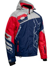 Castle X Code Snowmobile Jacket Navy/Silver/Red