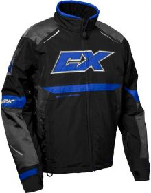 Castle X Blade G5 Snowmobile Jacket Charcoal/Blue/Black