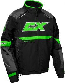 Castle X Blade G5 Snowmobile Jacket Charcoal/Green/Black