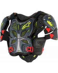 Alpinestars A-10 Full Chest Protector Anthracite/Black/Red