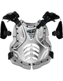 Fly Racing Convertible II Roost Chest Protector Clear/Silver