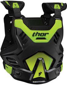 Thor Sentinel GP Chestprotector Youth Black/Flo-Green