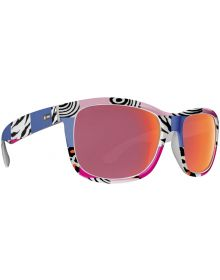 Dot Dash Poseur Sunglasses Pink Zebra / Red Chrome