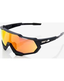100% Speedtrap Sunglasses Black/Red