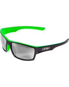 509 Matrix Sunglasses Translucent Green with Chrome Mirror Smoke