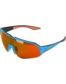 509 Shags Sunglasses Gloss GT Cyan/Polarized Orange Mirror Brown Tint