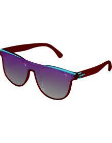509 Esses Sunglasses Matte Maroon Teal/ Polarized Violet Gradient Tint