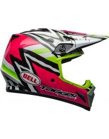 Bell MX-9 Mips Helmet Tagger Asymmetric Pink/Green