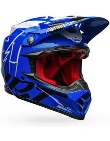 Bell Moto 9 Carbon Flex Helmet FastHouse DID 20 Blue/White