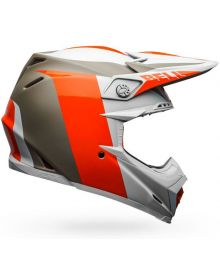 Bell 2020 Moto 9 Carbon Flex Helmet Division Matte/Gloss White/Orange/Tan