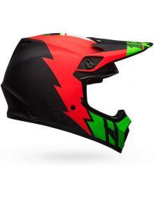 Bell MX-9 Mips Helmet Strike Matte Infrared/Green/Black