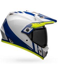 Bell MX-9 Adventure Mips Helmet Dash White/Blue/Hi-Viz