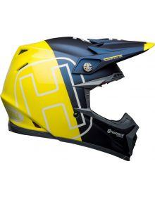 Bell 2021 Moto 9 Flex Helmet Husqvarna Gotland Matte/Gloss Blue/Hi-Viz