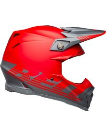 Bell 2021 Moto 9 Flex Helmet Louver Matte Gray/Red
