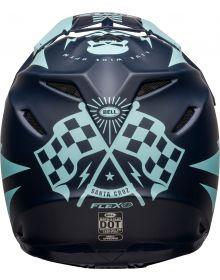Bell 2021 Moto 9 Flex Helmet Brakaway Matte Navy/Light Blue