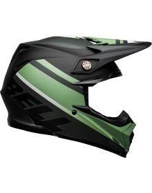 Bell 2021 Moto 9 Mips Helmet Prophecy Matte Black/Dark Green