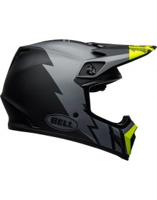 Bell 2021 MX-9 Mips Helmet Strike Matte Gray/Black/Hi-Vis