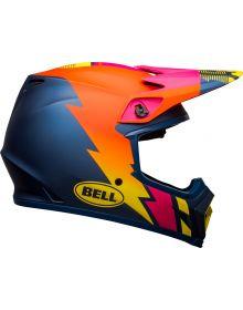 Bell 2021 MX-9 Mips Helmet Strike Matte Blue/Orange/Pink