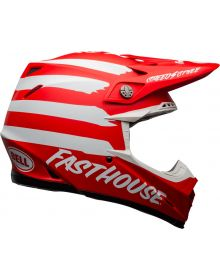 Bell 2021 Moto 9 Mips Helmet Fasthouse Signia Matte Red/White