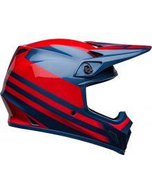Bell Moto-9 MIPS Disrupt Helmet True Blue/Red
