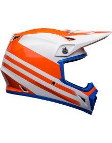 Bell Moto-9 MIPS Disrupt Helmet White/Orange