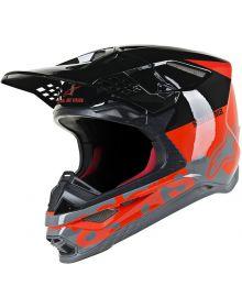 Alpinestars M-8 Helmet Red/Black/Grey