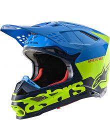 Alpinestars 2020 Supertech M-8 Radium Helmet Aqua/Fluo-Yellow/Navy