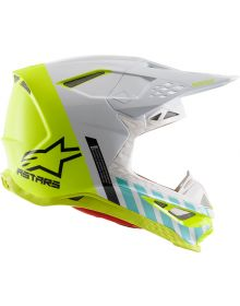 Alpinestars SM8 Anaheim 20 Helmet Flo Yellow/White/Turquoise